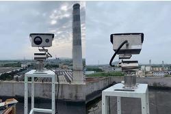 日照东港区化工园区高空瞭望摄像机安装调试完成